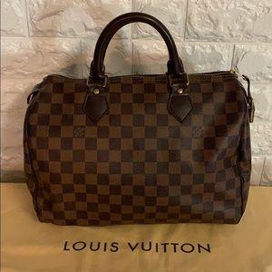 Authentic Louis Vuitton Speedy 30 Damier Ebene